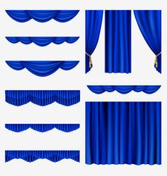 Set curtains vector