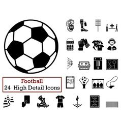 Set of 24 Football Icons vector image