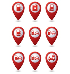Set of Transport RED pointer vector