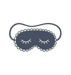 sleep mask for eyes night accessory to vector image