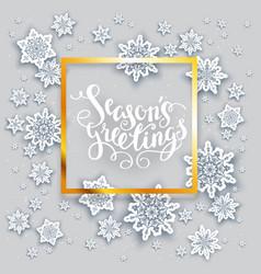 Snow holiday card vector