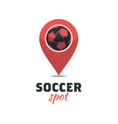 soccer football logo template creative sport ball vector image