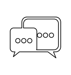 speech bubble icon pictogram image vector image
