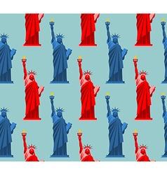 Statue of Liberty seamless pattern USA national vector image