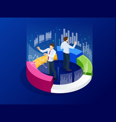 Strategy and planning web banner data vector
