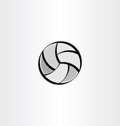 stylized volleyball icon vector image