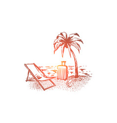 summer tourism holiday vacation vector image