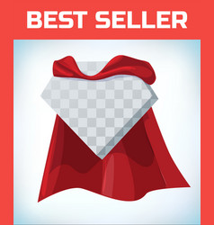 super hero cape red cloak hero clothes vector image