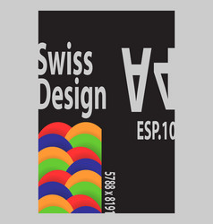 swiss design vector image