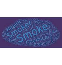 The Hazards of Secondhand Smoke text background vector