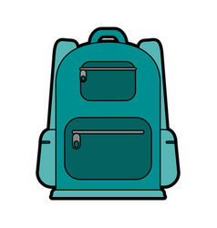 travel backpack icon image vector image