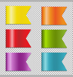 web ribbons collection vector image