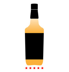 whisky icon color fill style vector image