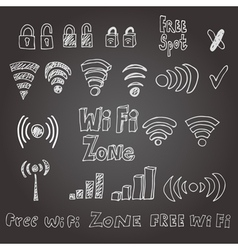 WiFi signs vector