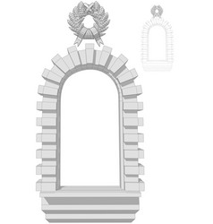 Window arch vector