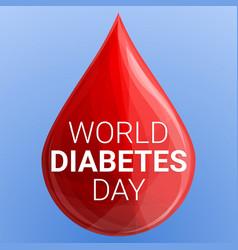 world diabetes day concept background cartoon vector image