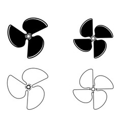 boat propellers vector image vector image