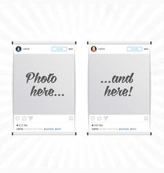 social network photo frames vector image vector image