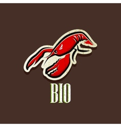 vintage with a lobster vector image vector image