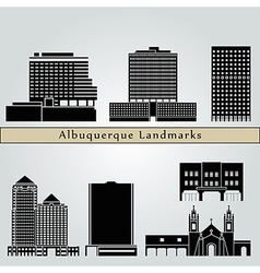 Albuquerque landmarks and monuments vector image vector image