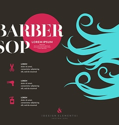 Bright poster for the Barber shop vector image