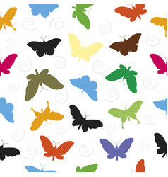 butterfly pattern seamless background vector image vector image
