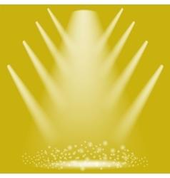 Concert Lighting Stage Spotlights vector image vector image