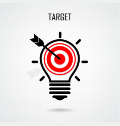 Creative light bulb and target concept vector