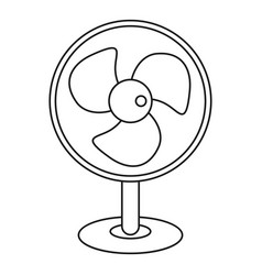 electric table fan icon outline style vector image