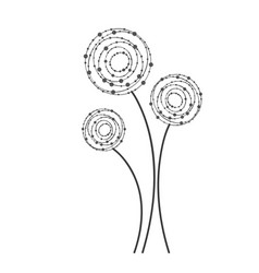 figure rounds flowers icon vector image vector image