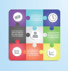 Jigsaw puzzle infographic template vector image vector image