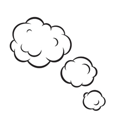 Pop art bubble clouds isolated vector image vector image