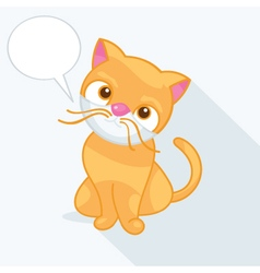 a cute cat vector image vector image
