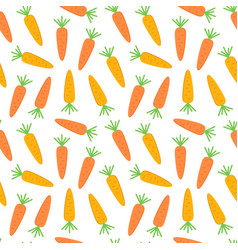 flat design carrot seamless pattern background vector image vector image