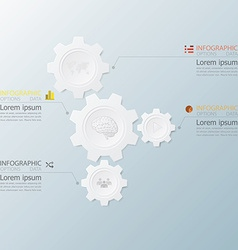 Gear Shape Infographics With Paper Graphic Style vector image