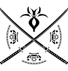 japanese swords vector image