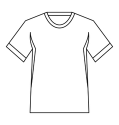 Men tennis t-shirt icon outline style vector
