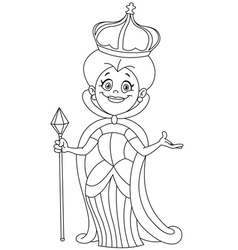 outlined queen vector image vector image