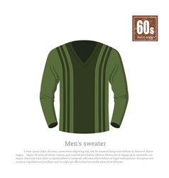 retro sweater in realistic style vector image