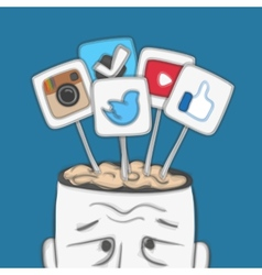 Social networks in human brain vector image vector image