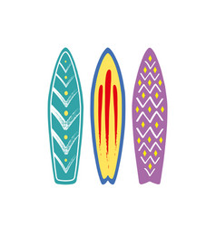 with 3 surf vector image