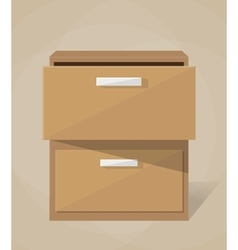archive filling cabinet vector image