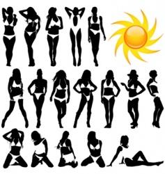 bikini women vector image