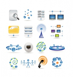 Connection and internet icons vector