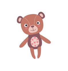 cute soft teddy bear plush toy stuffed cartoon vector image