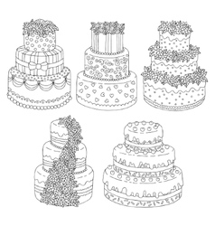 Hand drawn seamless pattern with triple birthday vector image