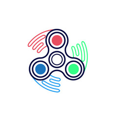 spinner icon outline style vector image