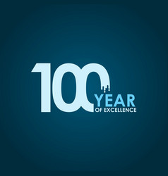 100 year excellence template design vector