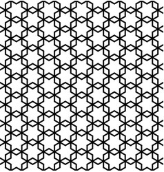 abstract seamless pattern based on ornament kumiko vector image