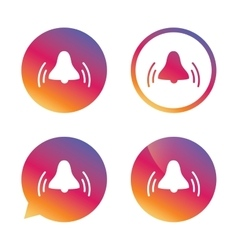 Alarm bell sign icon Wake up alarm symbol vector image